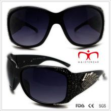 Plástico senhoras óculos de sol com strass (wsp508359)