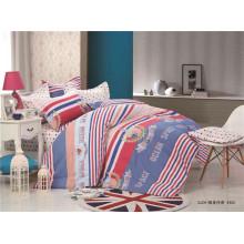 Custom design 4pc 100%cotton printed bed spread duvet cover