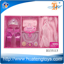 2014 New Item Fashion Beauty Jewelry Sets ,Plastic Accessories girl beauty set toys