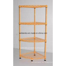 Estantería de almacenaje del estante del alambre del metal de Triangle DIY con las unidades de la esquina