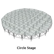 estructura de aluminio con escenario es fácil de instalar y desmontar, obtener los certificados ISO y TUV hechos en Shanghái