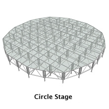 aluminium truss with stage is easy to set up and take down get the ISO and TUV certificates made in shanghai