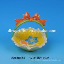 Easter present ceramic egg holder cestas