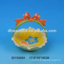 Páscoa presente cestas de titular de ovo de cerâmica
