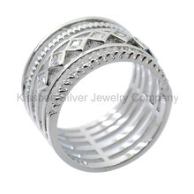 925 Silver Jewelry Fashion Jewellery, Inlaid Ring (KR3099)