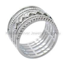 925 Jóias de prata da forma da jóia, anel embutido (KR3099)