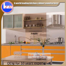 Wooden Modular Lacqrue Kitchen Cabinets with Glossy Doors (customized)