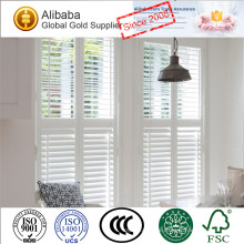 Premium Quality with Good Price of White Coated Arch Plantation Shutters