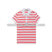13PT1032 Women's striped fashion custom polo shirt