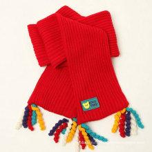 100% акриловый Модный вязаный шарф