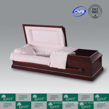 Cremación ataúd LUXES venta por mayor estilo americano ataúdes de madera para el entierro