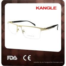 2015 marcos ópticos elegantes de alta calidad de las lentes del metal