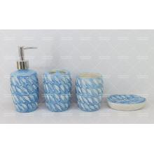 Set de salle de bain en relief poisson pour la vente en gros