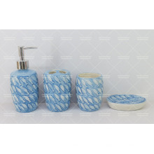 Fish Embossed Bathroom Set for Atacado
