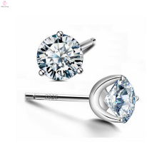 Crystal S925 Sterling Silver Zirconia Cz Stud Earrings