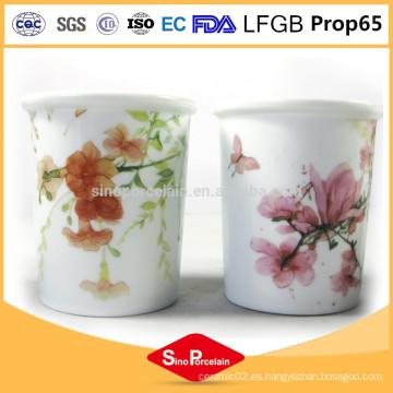 Sostenedor de velas eco-friendly románticos candelabros de cerámica