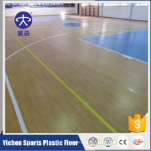 Alfombra de suelo de rebote de corte de cancha de baloncesto de suelo de PVC
