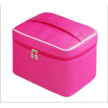 Ярко-розовый косметический мешок сумочка (НХ-q081)