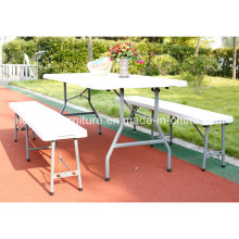 Promoção 6FT Folding in Half Table and Bench Set