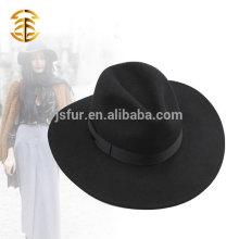 2015 Европейский стиль широкий Brim Unisex качество 100% австралийская шерсть войлок Fedora Hat