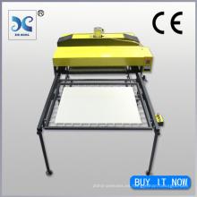 El tamaño grande hidráulico echó a un lado la máquina de la sublimación de la prensa del calor de la materia textil