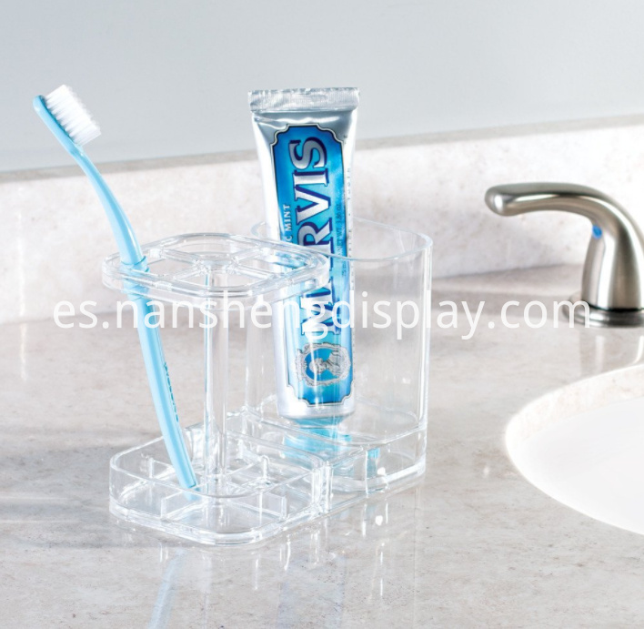 Acrylic Bathroom Toothbrush Toothpaste Holder