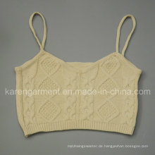 Zopfmuster Cami Cropped Pullover Top Cute Kleidung
