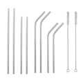 Stainless Steel Drinking Reusable Straw With Cleaning Brush