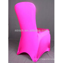 pink spandex chair covers for weddings,Lycra/Spandex chair cover with sash for wedding and banquet