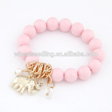 Wholesale elephant pendant 2014 lucky beads bracelet