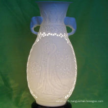 Ceramic Pot Shaped Elephant Head Handle Lamp Shade