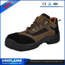 Chaussures de sécurité en cuir véritable PU Outsole Ufb055