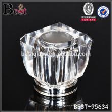 elegante tapa de botella de perfume de cristal cuadrado, tapa de botella de perfume de Surlyn tapa