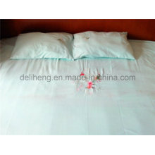 3PCS 100% Microfiber Polyester Plain Dyed Embroidered Bedsheets