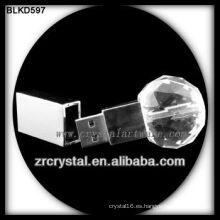 bola forma cristal USB flash disk BLKD597