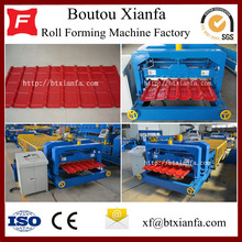 Customized for European Type Glazed Tile Roll Forming Machine for Sale Xianfa Roof Deck Iron Sheet Making Machine supply to Botswana Manufacturers