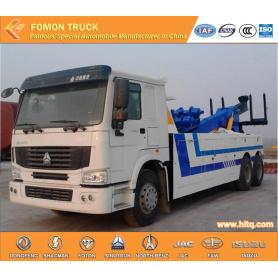 SINOTRUK 6x4 double hoist rescue truck