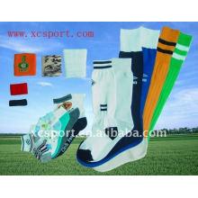 Malha de algodão macio homens longos meias esporte