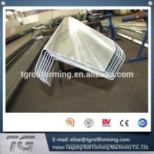 Heißer Verkauf 2015! Z-Stahlprofil-Pfannkanal-Walzenformmaschine mit Stanzen