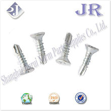 crossed countersunk head self-drilling screw zinc plated TS16949 ISO9001