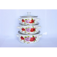 Wholesale porcelain enamel cookware mini casserole sets