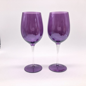 Venta al por mayor Purple Color Red Wine Glass