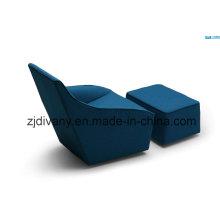 Lazer sofá tecido único sofá móveis (D-54)