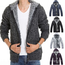 Stylish Men′s Slim Warm Hooded Knitted Sweaters Mens