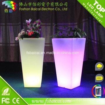 Decoration LED Illuminated Flower Pot/Garden Flwer Planter Lighted
