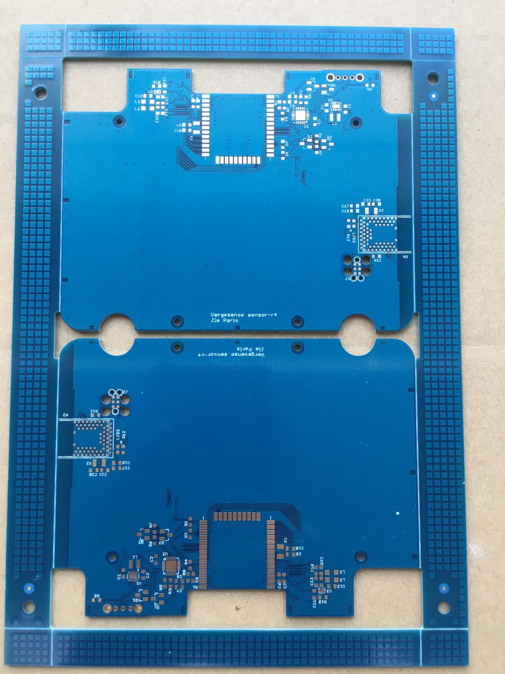 2 layer 1.2mm blue solder sensors PCB