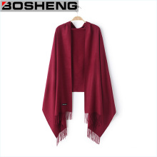 Solid Color Chiffon Viscose Scarf Wrap Woven Shawls