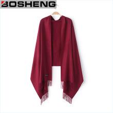 Твердый цвет шифон вискозный шарф Wrap Woven Shawls