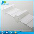 Résistant aux rayures 3 mm lowes en polycarbonate en plastique ondulé toit en tôle ondulée