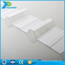 0,8 mm Skylight UV Protector policarbonato ondulado folha de telhado